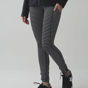 lululemon athletica Pants & Jumpsuits - Lululemon Speed Tight II Parallel Stripe high rise